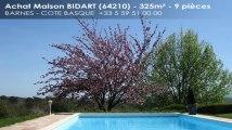 A vendre - maison/villa - BIDART (64210) - 9 pièces - 325m²