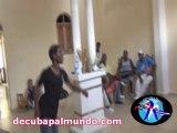 Demonstration d'Elégua avec Johnson Mayet-Voyage Salsa à Cuba Juillet 2013-De Cuba pa'l Mundo