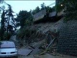 Intempéries: les dégâts à Sainte-Agnès dans les Alpes-Maritimes - 19/01