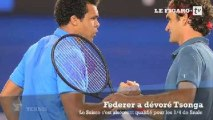 "Open d'Australie: ""Un Federer rajeuni face à un Tsonga emprunté"""