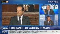 BFM Story: Jean-Frédéric Poisson conteste la récupération politique de la visite de François Hollande au Vatican - 23/01