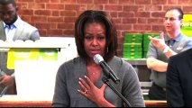 "Michelle Obama to kids: Healthy eating makes ""huge difference"""