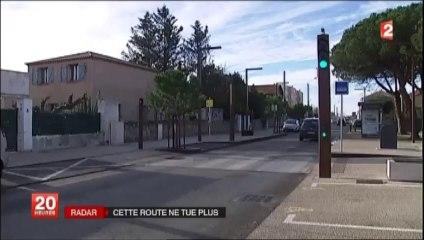 Reportage France 2 (JT 20h) - aménagement de l'ancienne route nationale en boulevard urbain et baisse des accidents