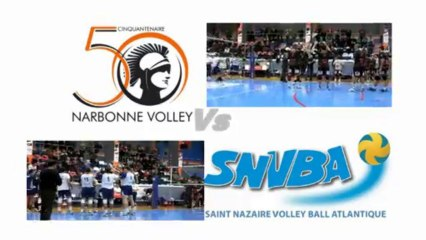 reportage Narbonne volley Vs St NAZAIRE 2013