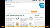 web based file sharing ~ upload your files for free Get EazyFiles.com