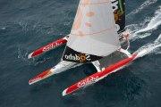 Tentative de record du monde de Thomas Coville : la cartographie des 3 premiers jours de course