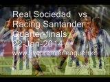 Watch Liga Spanish Copa del Rey   Real Sociedad  vs  Racing Santander  Online