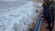 Dancing Woman Swept Away By Massive Waves In Spain