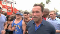 Arnold Schwarzenegger Pranks People At Gold's Gym In Venice