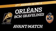 Avant-Match - J17 - Orléans reçoit le BCM Gravelines