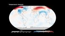 Plus de cent ans de réchauffement climatique en une vidéo
