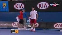 HOT SHOT Stanislas Wawrinka Vs Tomas Berdych Australian Open 2014  SF HD
