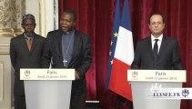 Déclaration aux côtés de Monseigneur NZAPALAINGA, Archevêque de Bangui et de l'Imam KOBINE LAYAMA, président de la Communauté islamique centrafricaine
