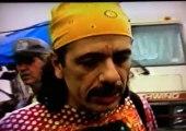 Carlos Santana backstage at Woodstock