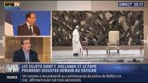 Le Soir BFM: Hollande sera au Vatican: quels seront les sujets abordés ? - 23/01 4/4