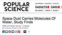 Molecules of Water Found in Space Dust