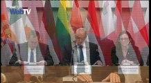 Συνέντευξη Τύπου των υπουργών Προστασίας του Πολίτη-Εσωτερικών-Ναυτιλίας στο Ζάππειο
