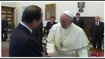 La visite de François Hollande au Pape en moins de trois minutes