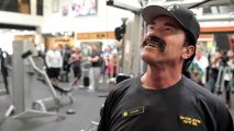 Arnold Schwarzenegger goes undercover at Gold's Gym