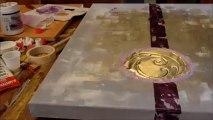tableau abstrait peinture acrylique violetta purple speed painting #1