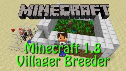 Minecraft: 1.8 Infinite Villager Breeder Showcase no Redstone