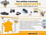 Rad1.fr, le site de petites annonces gratuites avec 7 catégories principales