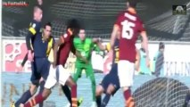 Hellas Verona vs AS Roma ( 1-3 ) All Goals & Highlights ( Serie A ) 26-01-2014 HD