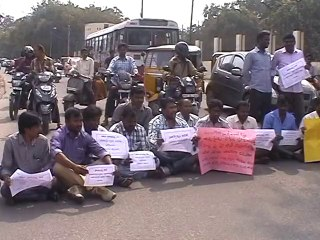 Students demand probe on Judge on Akula Bhumaiah's Death with sitting