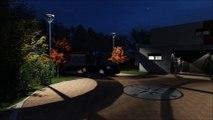 Eclairage de jardin 3D,plan de jardin 3D , piscine, pool house.