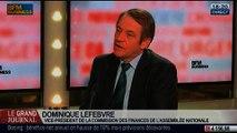Dominique Lefebvre, vice-président PS de la commission des finances à l'Assemblée nationale, dans Le Grand Journal – 29/01 2/4