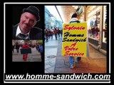 4-homme sandwich Seine saint denis, street marketing Saint Denis 93