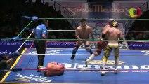 Fuego, Guerrero Maya Jr., Sagrado vs Boby Zavala, Misterioso Jr., Puma