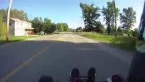 Un karting à moteur de moto