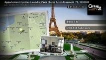 Appartement 2 pièces à vendre, Paris 18eme Arrondissement  75, 329000€