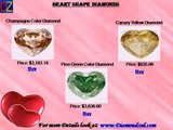 White Heart cut Diamonds in Iowa IA, Black Heart cut Diamonds Texas TX