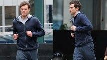 Fifty Shades Of Grey Christian Grey Jogs Away Jamie Dornan