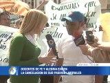 Docentes de Fe y Alegría protestan para exigir pago de pasivos laborales