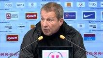 Conférence de presse : Rolland Courbis avant Stade de Reims vs MHSC (J23)