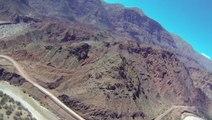 La Quebrada de las Conchas vue du ciel - Voyage en Argentine