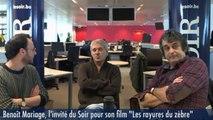 Benoît Mariage invité à la rédaction du journal Le Soir pour son film les « Rayures du zèbre »