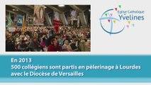 En 2013 500 Collégiens sont partis en pélerinage à Lourdes avec le Diocèse de Versailles