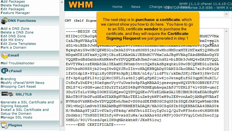 29. Generating and Installing SSL certificates in WHM