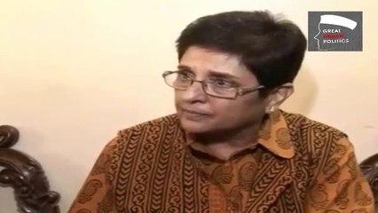 Kiran Bedi Clears her stand on Rahul Gandhi, Narendra Modi & Arvind Kejrival's AAP