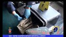 Bari | Rapine: scoperto deposito refurtiva, 4 arresti