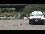 Orta di Atella (CE) - Brucia rifiuti in un parcheggio, arrestato (17.01.14)