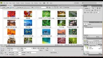 Dreamweaver: Create a Web Photo Album/Gallery - Tutorial