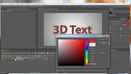 After Effects: 3D Rotating Text - Tutorial