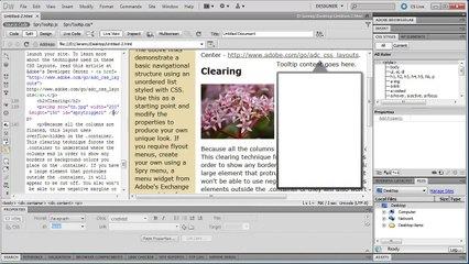 Dreamweaver: Create Professional Spry Tool Tips (Part 3) - Tutorial