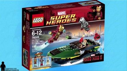 LEGO Review - Marvel Superheros Iron Man Extremis Sea Port Battle 76006
