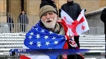Des Géorgiens manifestent contre les jeux Olympiques de Sotchi